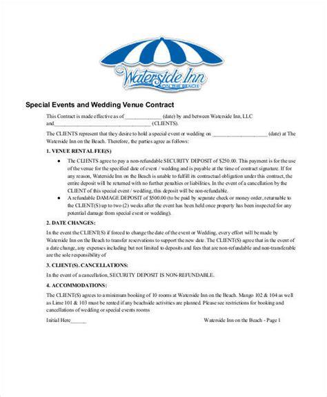 wedding contract samples  word google docs