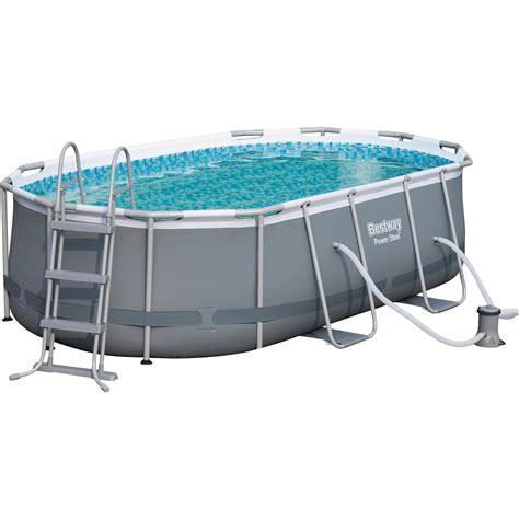bestway pool rechteckig aufbauanleitung bestway stahlrahmenpool set oval 424 cm x 250 cm x 100 cm kaufen bei obi