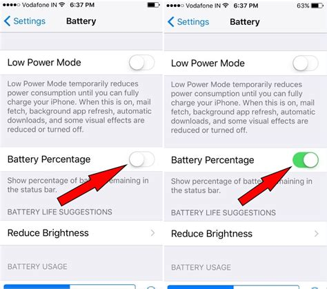 turn on battery percentage iphone how to show battery percentage on iphone 7 plus ios 10