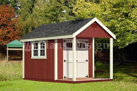 Shed With Porch by 12 X 8 Cabin Loft Utility Shed With Porch Plans