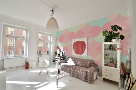 Paint Colors For A Small Living Room by Bring The Essence Of Summer Indoors Wall Murals In Pastel