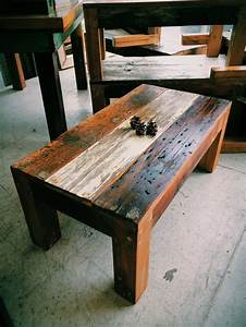 rustic reclaimed wood coffee table made from old floor With coffee tables made from old barn wood
