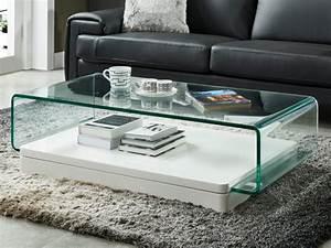 Table Basse Vente Unique : table basse glossie mdf laqu verre coloris blanc ~ Nature-et-papiers.com Idées de Décoration