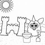 Sandbox Coloring Pages Sand Getcolorings sketch template