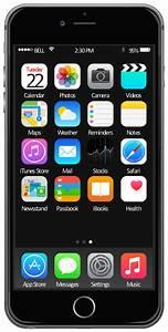 iOS 8 / iPhone 6 home screen - Template