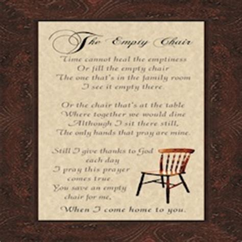 empty chair poem gift ideas