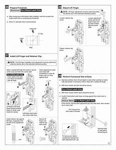Von Duprin 23970734 G 98  9949 Metal Door Installation Instructions 105677