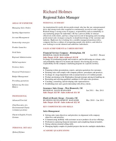 Sales Manager Resume Templates Word by Sales Manager Resume Template 7 Free Word Pdf