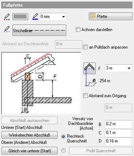 unterkante des daches architektonische elemente gt dach gt attribute gt fu 223 pfette