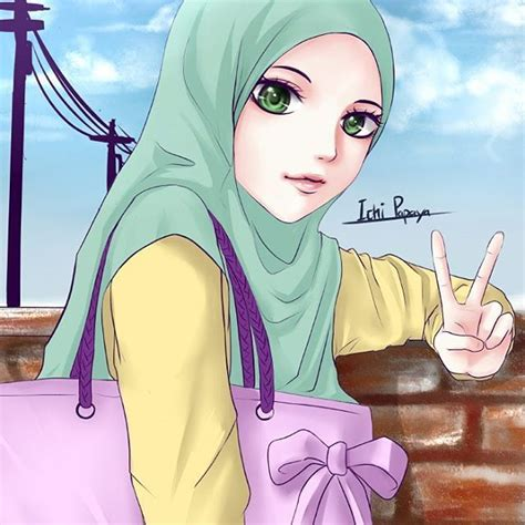 foto kartun muslimah cantik terbaru kartun gambar
