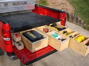 Storage Bed: Pickup Truck Bed Storage Boxes Pickup Truck