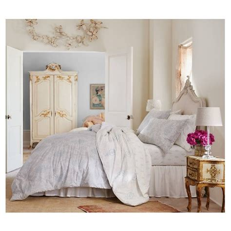 target shabby chic comforter sets printed damask comforter and sham set simply shabby chic target
