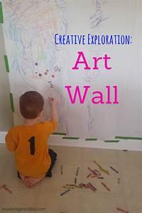 Preschool art wall