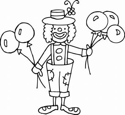 Clown Coloring Clipart Circus Cliparts Clip Funny
