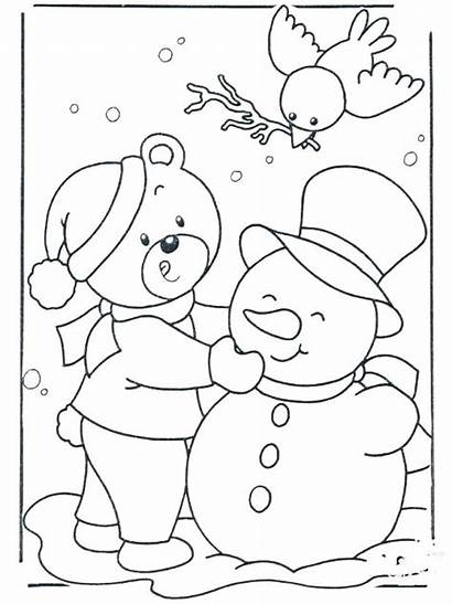 Coloring Winter Pages Themed Printable Getcolorings