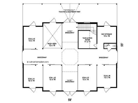 Horse Barn Outbuilding Plan # 006b-0003