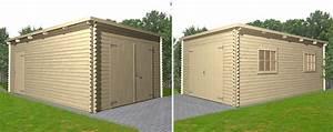 Garage En Bois Toit Plat : garage bois toit plat morea 24m oogarden france ~ Dailycaller-alerts.com Idées de Décoration