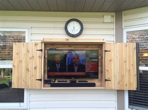 Outdoor Tv Cabinet Made Of Cedar. …