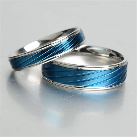 inspirations  thin blue  wedding bands
