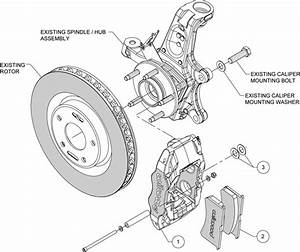 Wilwood Red Brake Caliper  U0026 Pad Kit 1997