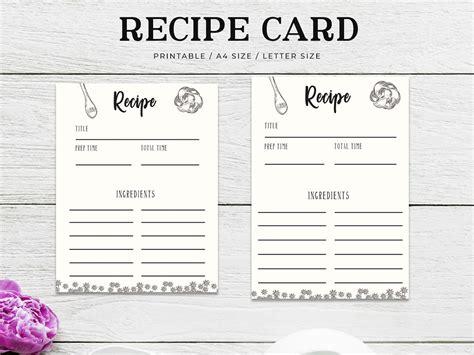 recipe card printable  farhan ahmad  dribbble