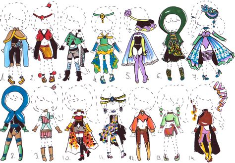 CLOSED- Fantasy outfit ADOPTS by Guppie-Vibes on DeviantArt