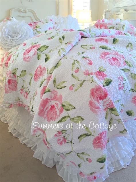 shabby chic quilts shabby cottage chic bedding quilts comforter rag