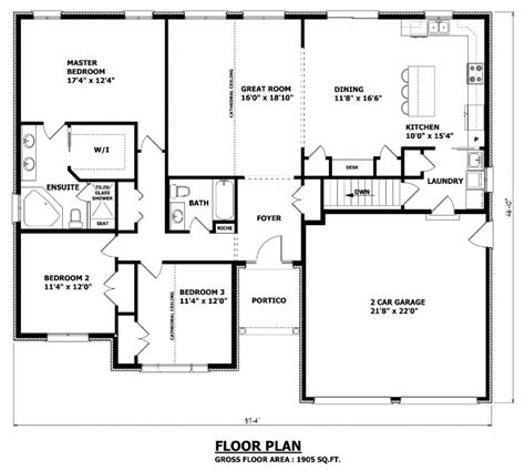 Kitchen Dining Room Floor Plans by 1905 Sq Ft The Barrie House Floor Plan Total Kitchen