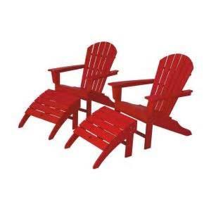 polywood south beach sunset red patio adirondack chair 2