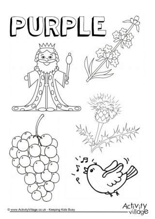 purple  colouring page color worksheets  preschool color worksheets preschool colors