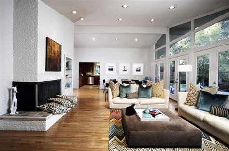 Mid Century Modern Great Room Midcentury Living Room
