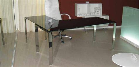 Scrivania Angolare Vetro by Mobili Per Ufficio Scrivania Angolare Vetro Struttura Cromo