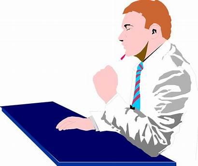 Thinking Clipart Business Clip Businessman Transparent Person