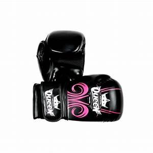 Gants de boxe femme noir et rose EWD Sport