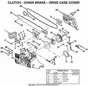 Homelite Ut100550 18 In  45cc Chain Saw Parts Diagram For