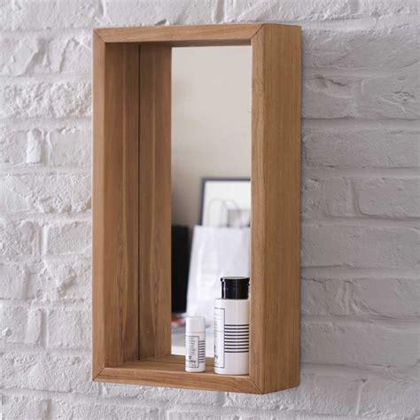 applique bureau miroir en teck stelle vente miroirs salle de bain 55x30