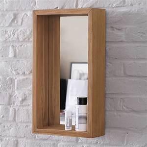 miroir en teck stelle vente miroirs salle de bain 55x30 With encadrer un miroir de salle de bain