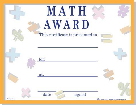 math certificates certificate  math