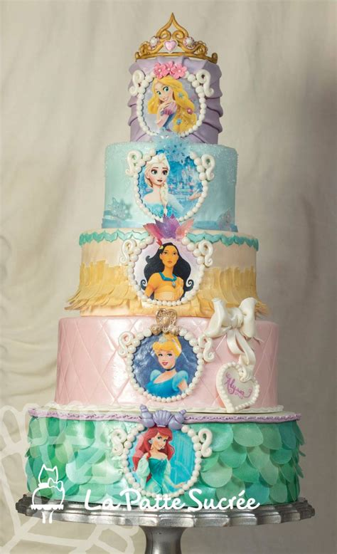 This Is A Five Tiers Cake With All Her Favorite