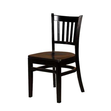 dining chair vertical back matching wood seat non