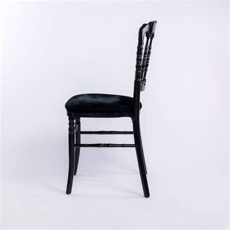 Location De Chaise Napoleon Iii Noire Empilable  Déco Privé