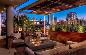 amenagement terrasse coquet pour une ambiance conviviale With amenagement terrasse de toit