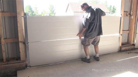 pella doors how to install a garage door