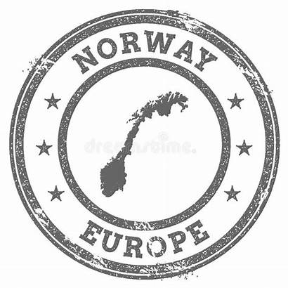 Stamp Norway Rubber Grunge Illustration Map Text