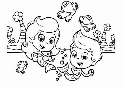 Coloring Pages Sister Bubble Guppies Gil Sheets