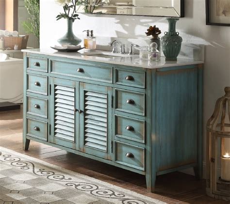 Cottage Style Bathroom Vanities Cabinets by 60 Inch Bathroom Vanity Cottage Style Distressed