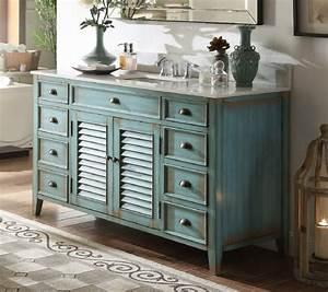 60, inch, bathroom, vanity, cottage, beach, style, distressed, blue, color, , 60, u0026quot, wx22, u0026quot, dx34, u0026quot, h, , ccf66323bu60