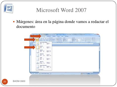 Badm 3900 Word 2007