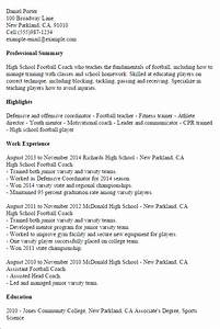 1 high school football coach resume templates try them With college coach resume
