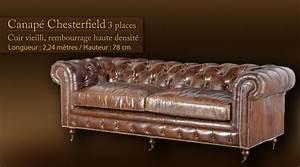 Canapé Chesterfield Cuir Vieilli : canap chesterfield cuir vieilli ji37 jornalagora ~ Teatrodelosmanantiales.com Idées de Décoration